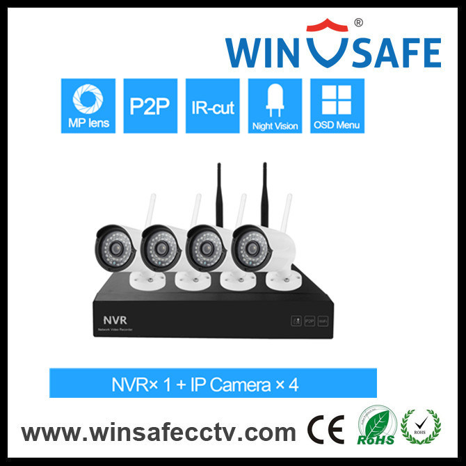 Support  Android/Ios/PC  Remote Wireless Home Security NVR Kits IP Camera