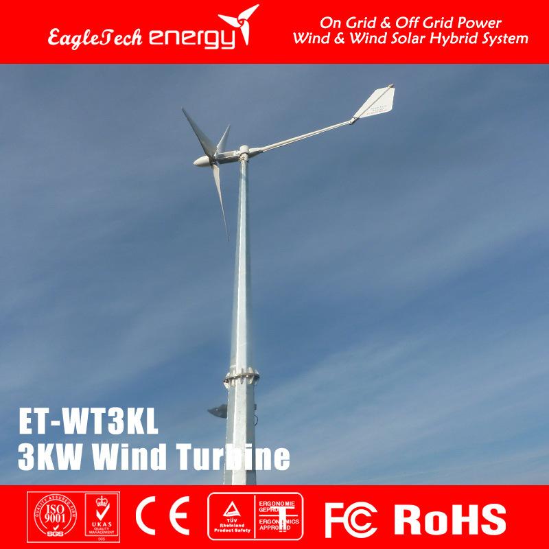 3kw Wind Turbine Wind Generator Wind Mill Wind Power System