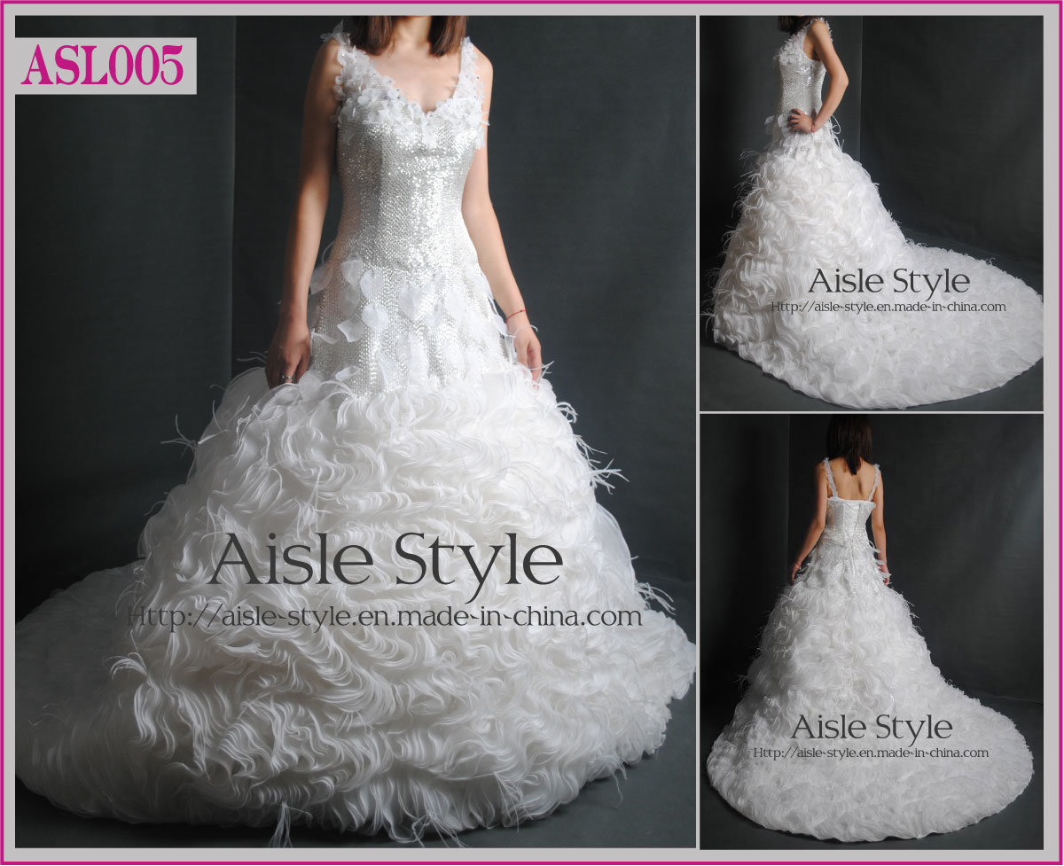 China heavy beaded wedding gown wedding dress asl005 for Heavy beaded wedding dresses
