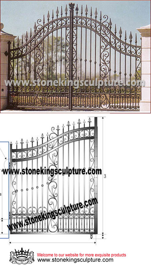Artistic Cast Iron Gate, Wrought Iron Gate, Garden Gate (SK-5015)