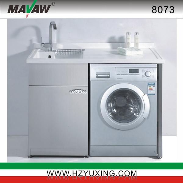 Lavadero De Baño Moderno:Vanidad del cuarto de baño del lavadero del acero inoxidable (MA-8073