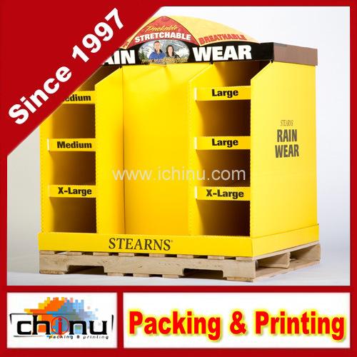 Rainwear Corrugated Board Pallet Display (6134)