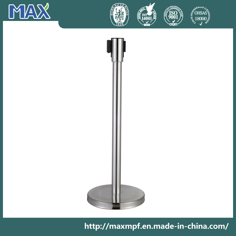 """Stainless Steel Stanchion 36"""" Height Crowd Control Barrier with Retractable Belt"""
