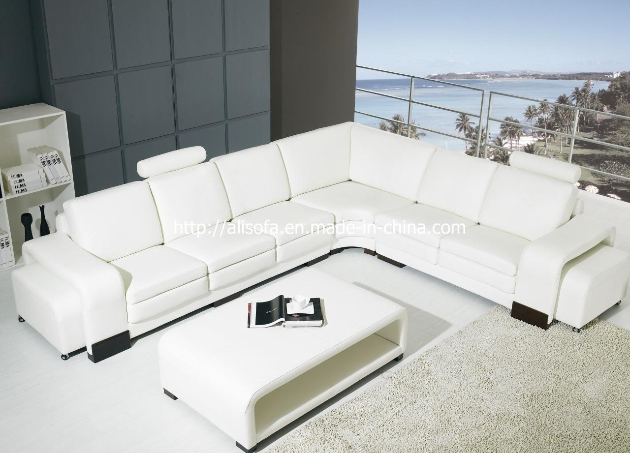 China modern leather sofa fx06 china leather sofa for Modern leather furniture