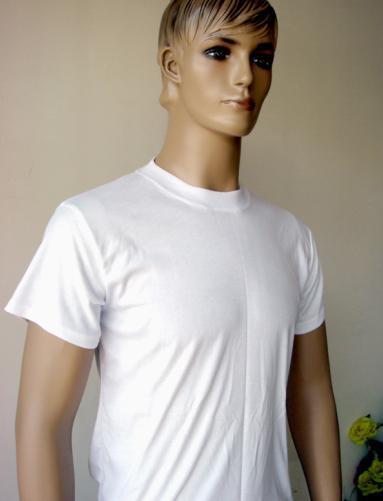 t shirts plain. Plain White Polyester T-Shirt