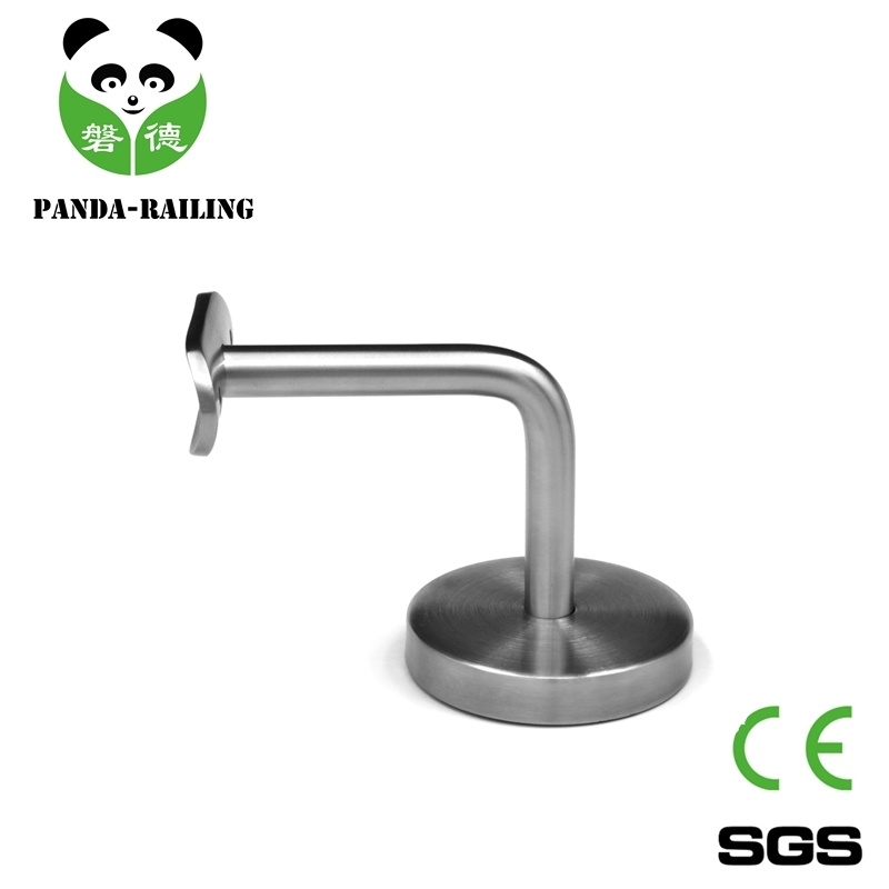 Stainless Steel Glass Railing Fitting / Inox Handrail Bracket with Carbon Steel Base