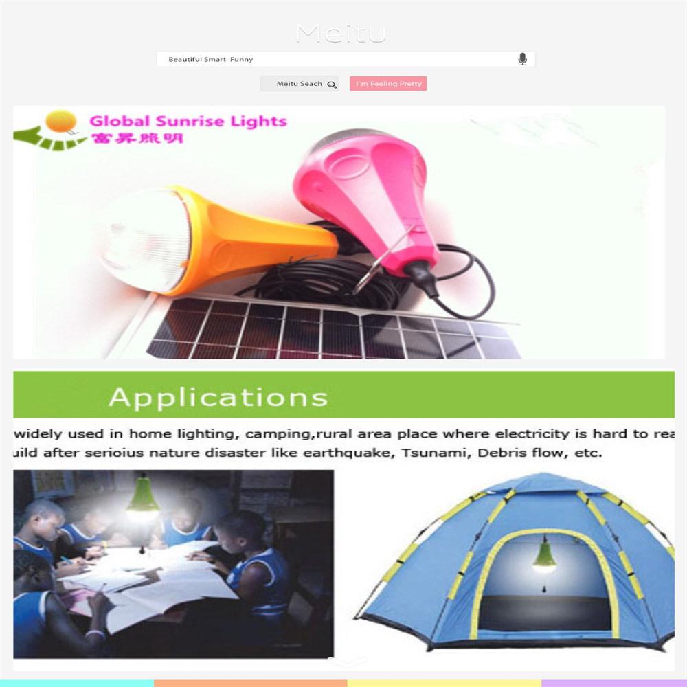 Solar LED Light, Solar Bulb, Solar Charger, Solar Product with Solar Panel