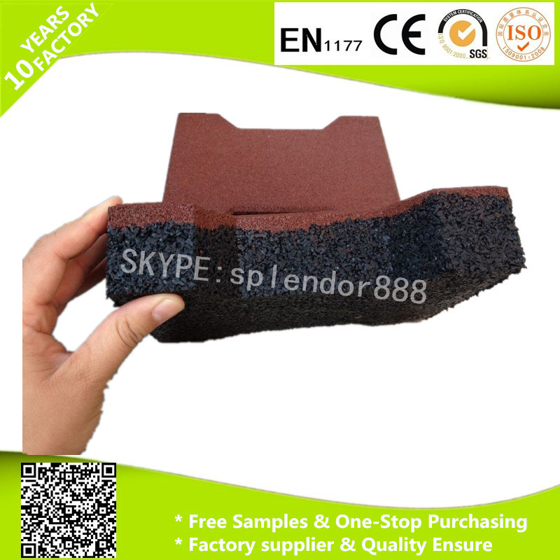 20mmx16mm Anti Slip Dog Bone Interlock Shape Rubber Paver for Horse Stable Playground Flooring Tiles