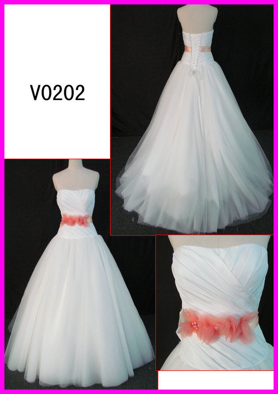 China 2014 guangzhou ivory white real tulle ball wedding for Guangzhou wedding dress market