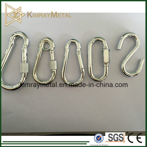 Electro Galvanized Spring Snap Hook with Nut