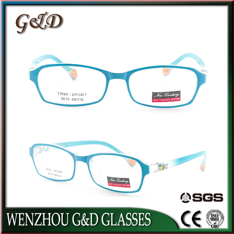 Popular Design Tr90 Eyewear Eyeglass Kids Optical Glasses Frame 5615