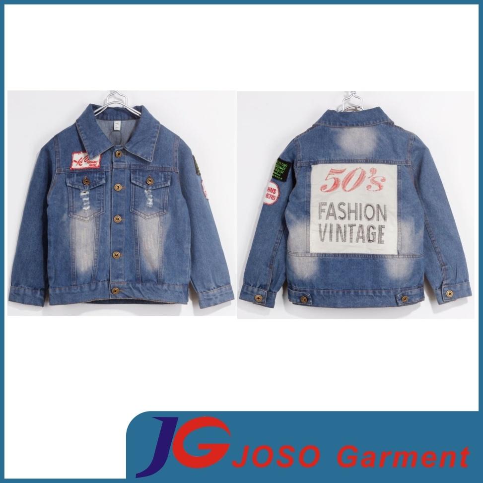 Boy Denim Jacket China Manufactory (JT8008)