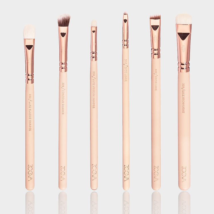 Newest Good Selling Zoeva Golden Brush 12PCS/Set Long Lasting Toothbrush Makeup Brush Makeup Bag Set