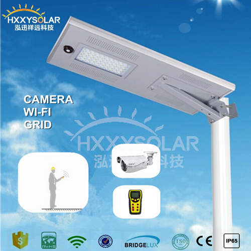 New Round Holder 50W Solar LED Street Light with Sensor