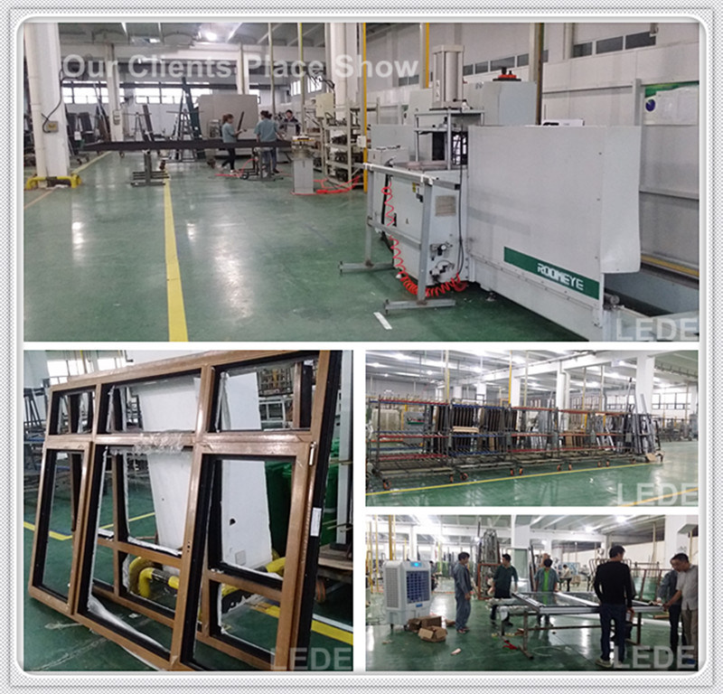 UPVC Welding Machine Transfering and Corner Cleaning in 1 Production Line Finish