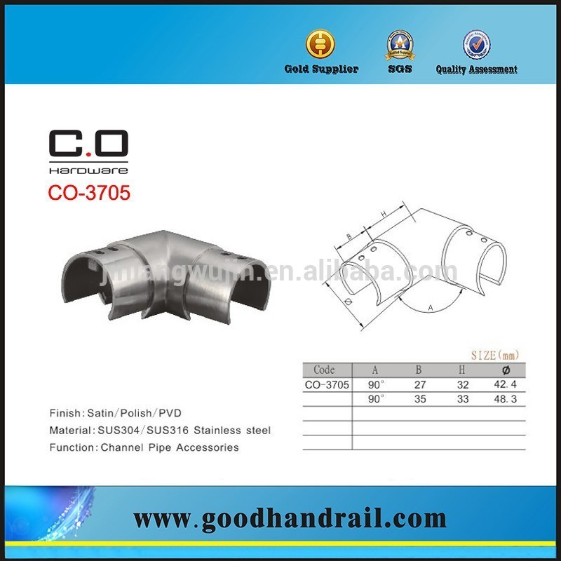 Slot Pipe Fitting/Channel Pipe Fitting. Channel Pipe Connector