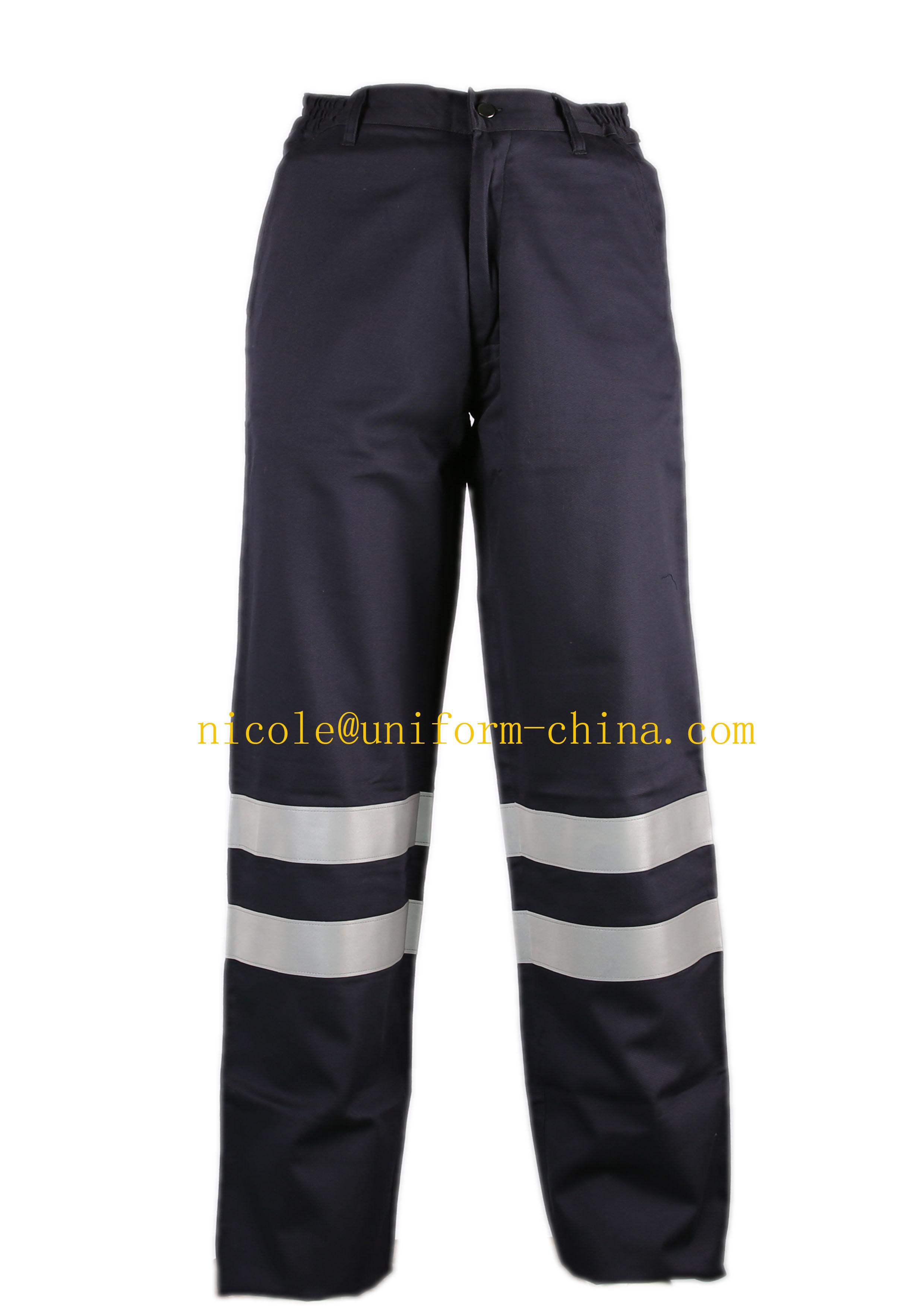 En11611 and En11612 Flame Retardant Mens Navy Refelctive Safety Work Cargo Pants