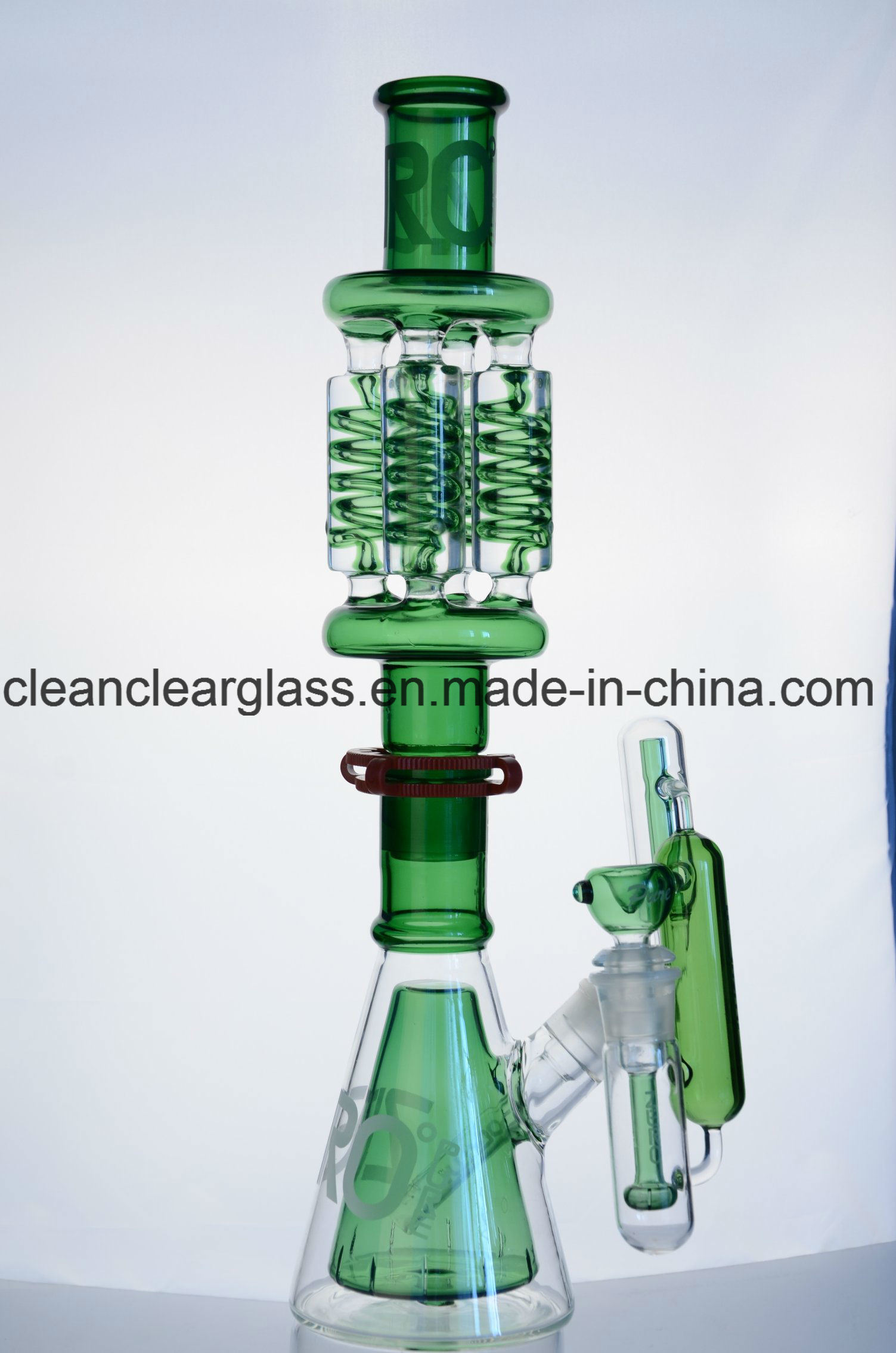 Wholesale Glass Water Pipe Glass Bon Zero X4 Detachable Quad Coil Glass Tube with Ash Catcher
