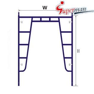 Walk Through Frame-Flip Lock for Scaffolding