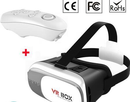 Vr Box 2 Virtual Reality Headset 3dglass with Bluetooth Handle Controller