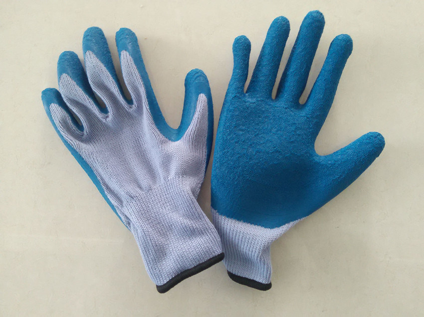 Polyester Shell Latex Coated Safety Work Glove (L1101)