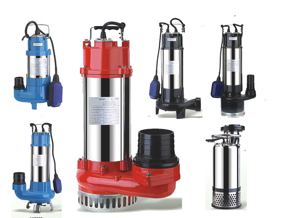 CE Approved Cast Iron Stainless Steel Sewage Submersuble Pump (WQ40-11-2.2)