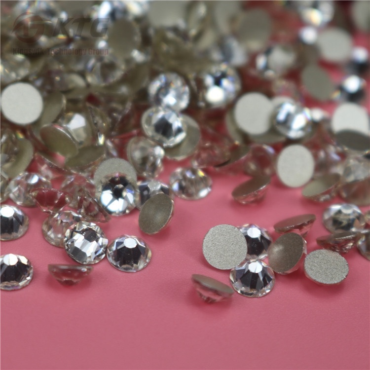 New 16 Cut Facets Glass Strass Flatback Ss16 Ss20 Ss30 Top Quality Non Hot Fix Nail Art Rhinestones for Nail Art Decoration