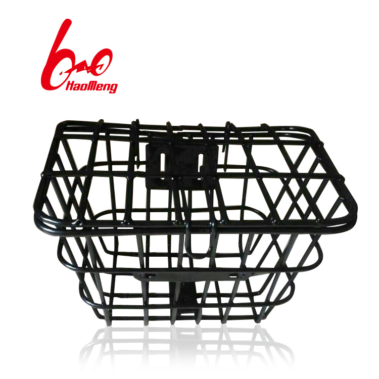 Folding Black Steel Bicycle Basket with Good Quality