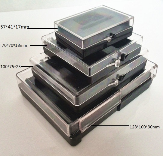 Polystyrene Rectangle Plastic Packaging Box with Hinges