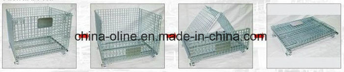 Stackable Folded Storage Steel Mesh Container