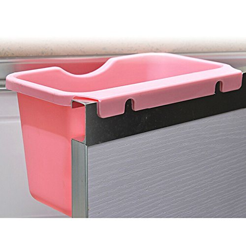 Recycling Container Case Accessories Home Kitchen Cabinet Door-Mounted Plastic Hanging Wastebasket Trash Can Garbage Bins