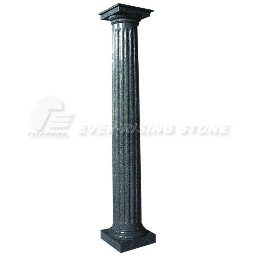 Grey Stone Pillars : China grey granite columns
