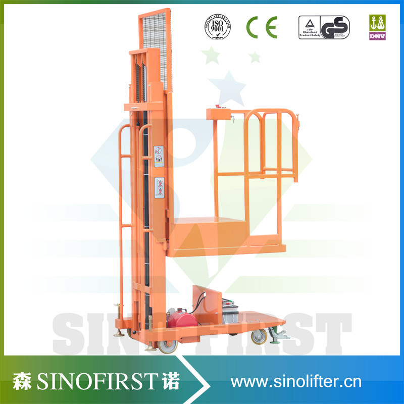 3m to 4.5m Mobile Semi Electric Hydraulic Order Picker Truck Machine