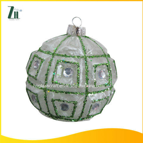 Hot Sale Clear Hand Blown Christmas Glass Ball with Hole
