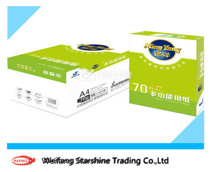 Whiteness 102%-104% 70g Wood Plup A4 Size Copy Paper
