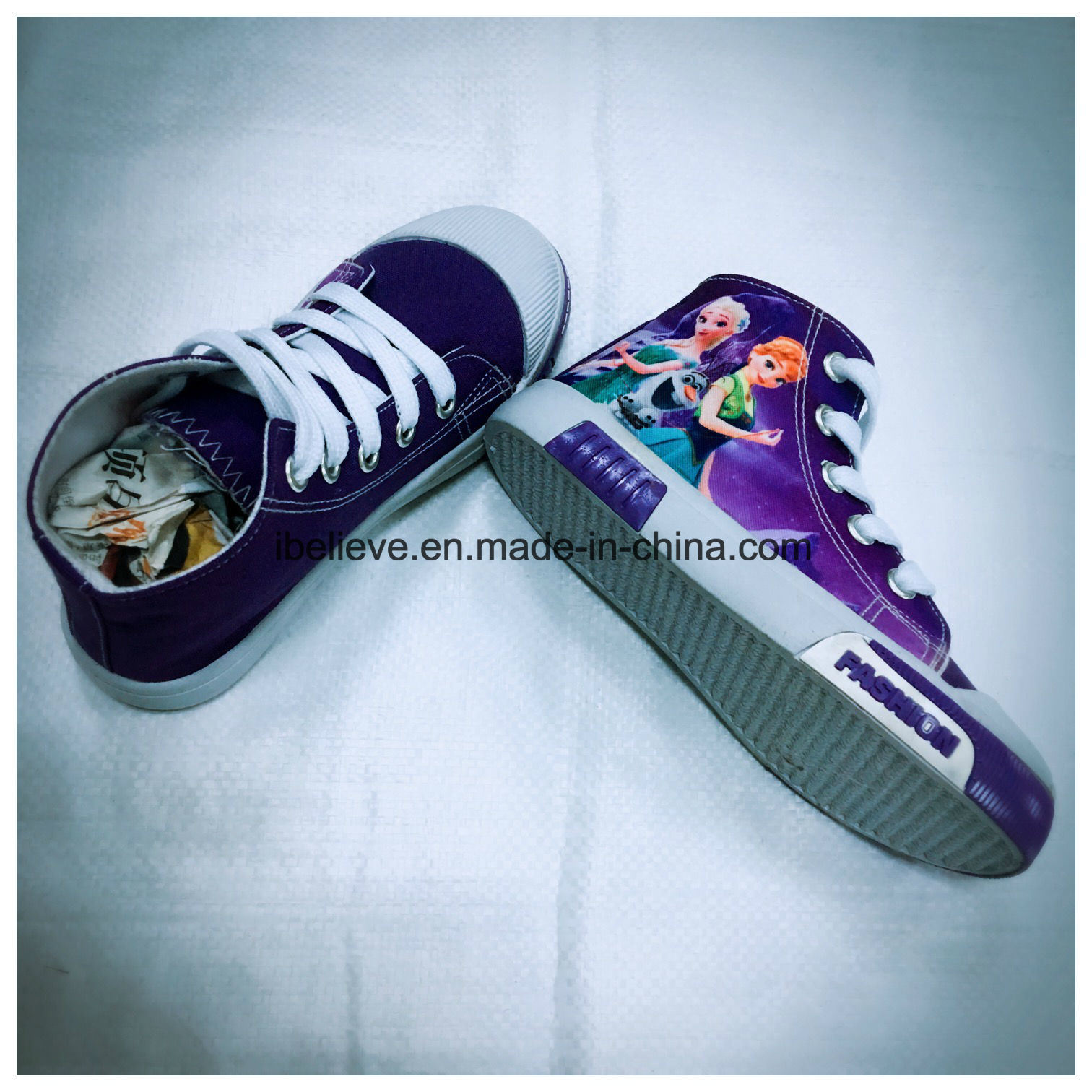 Doll Printing PVC Shoes for Export with Authorization