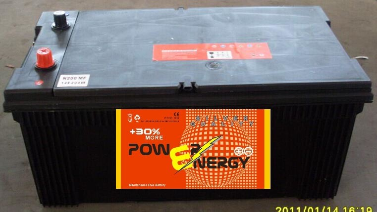 N200mf 12V200ah Maintenance Freelead Acid Car Storage Battery