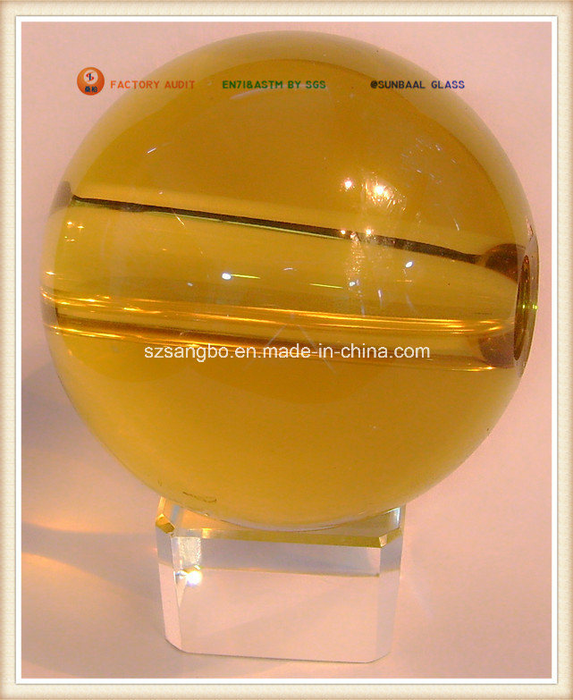 Big Crystal Glass Ball With Hole (S0113)