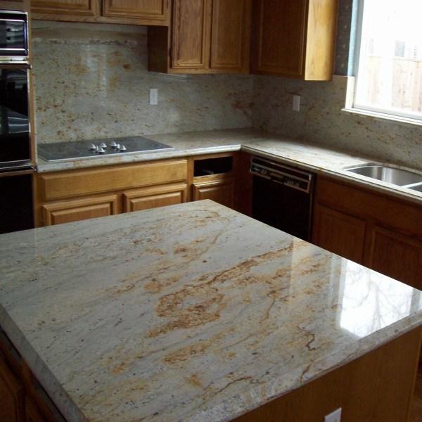 Golden River Granite Kitchen: China Cheap Price River Gold Granite Island Kitchen