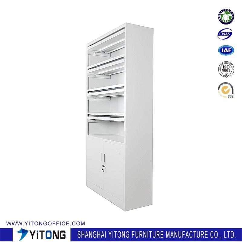 2-Door Magazine Rack Metal Storage Cabinet / Office Use Steel File Cabinet