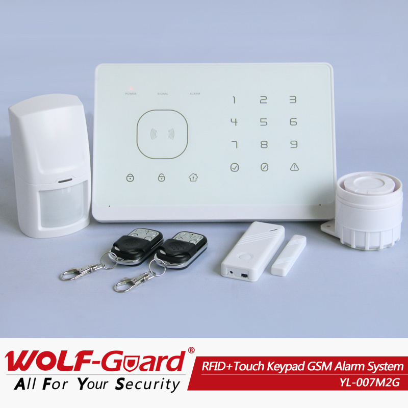 Home Automation! APP Control! RFID+Touch Keypad Smart GSM SMS Home Security Alarm System with Alarm Control Keypad (YL007M2G)