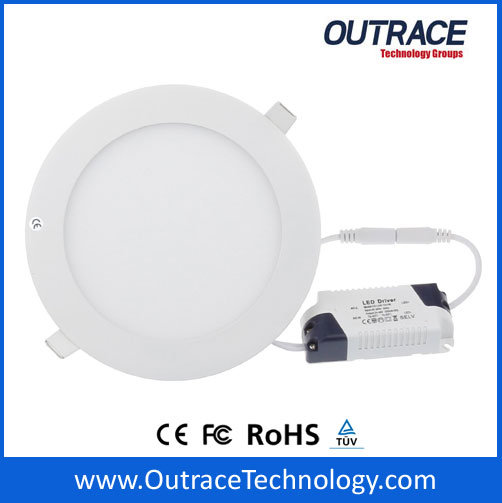 100-240VAC Circular Ultrathin LED Panel Light with 12W Power