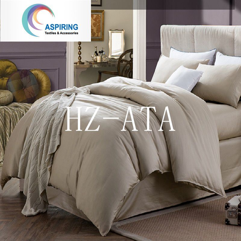 100% Cotton Solid Colour Fabric Bed Sheet