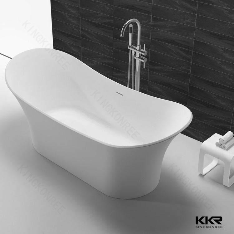 2017 New Design White Solid Surface Freestanding Bathtub