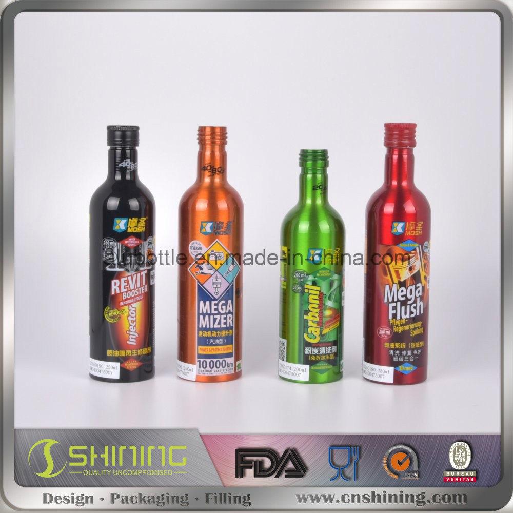 Aluminum Motor Oil Additive Bottle