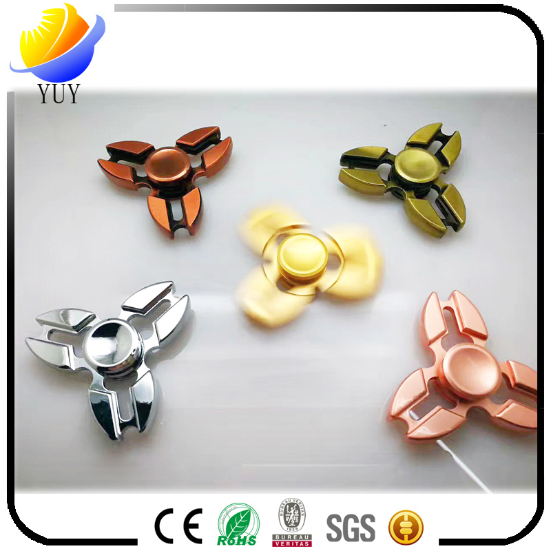 Hot Styles of Aluminum and Zinc Alloy Fingertip Gyro and Fidget Spinner and Hand Spinners with High Quality Metal Bearings