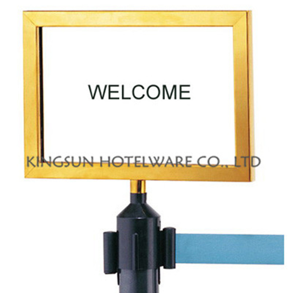 Colorful Sign Frame for Retractable Belt Queue Line Stanchion