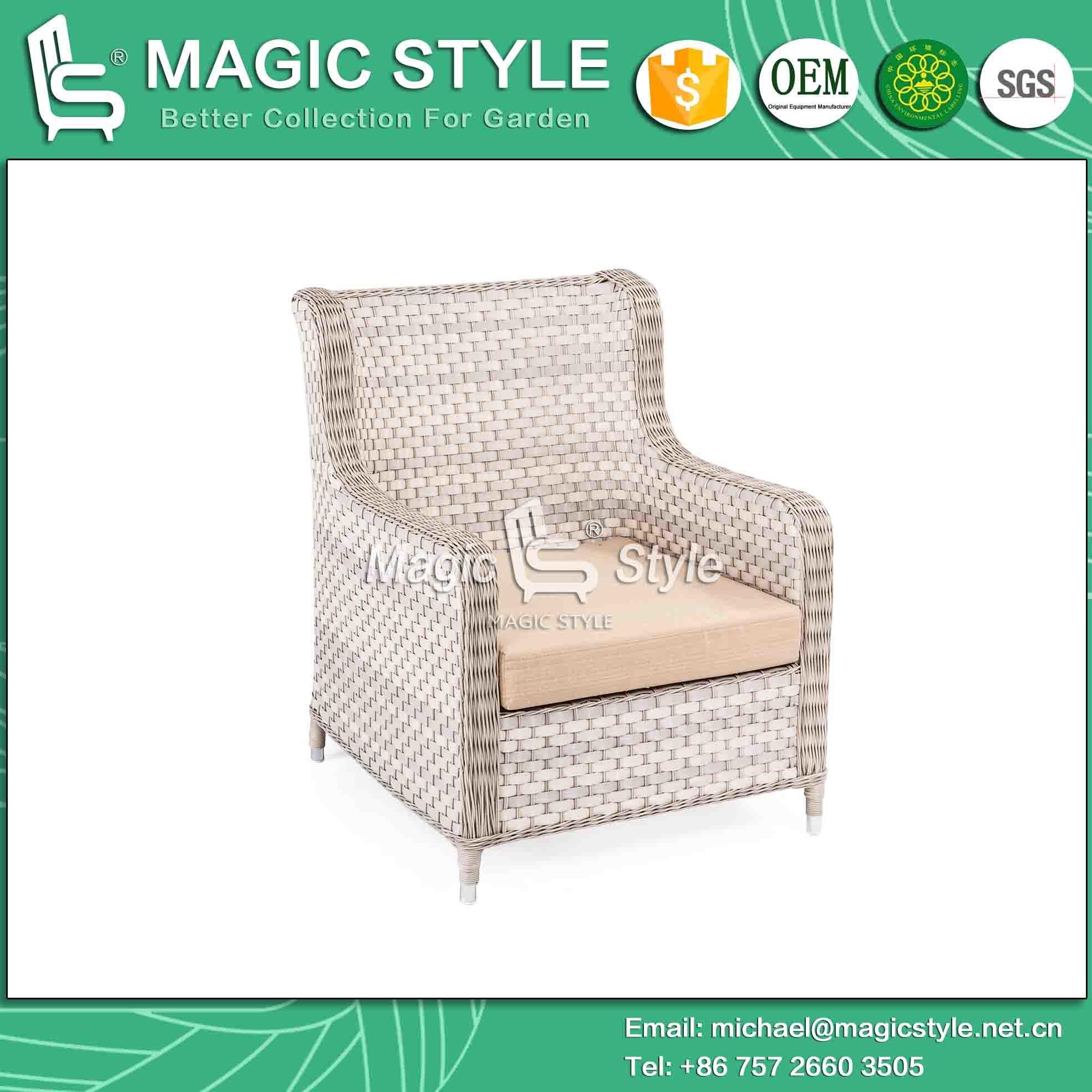 Patio Sofa with Cushion Wicker Combination Sofa Set Outdoor Sofa Set Rattan 2-Seat Sofa Leisure Sofa for Hotel (Magic Style)