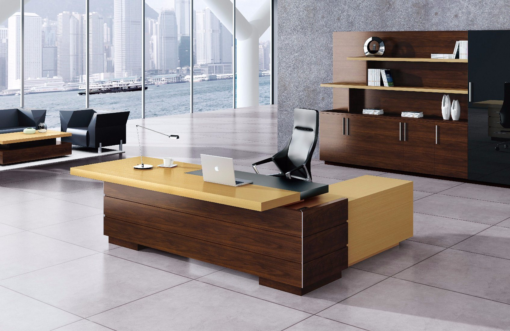 Modern MDF Melamine Wooden Office Table Fashion Office Furniture (HX-ET14010)