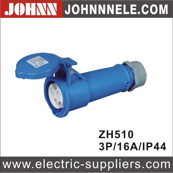 IP44 3p 16A Blue Waterproof Industrial Connector